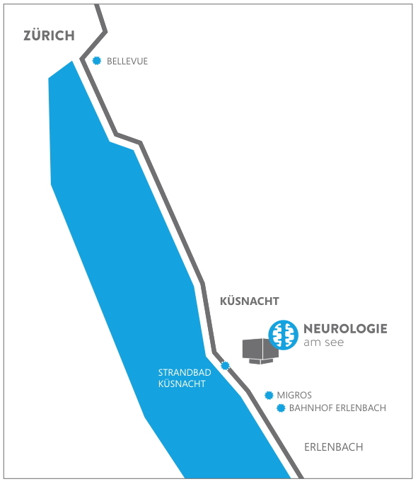 Lageplan Neurologie am See